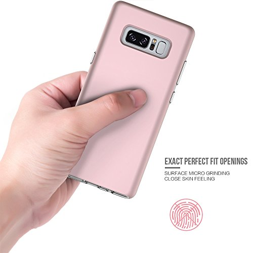 EKINHUI Case Cover Ultra Thin Lightweight Dual Layer 2 in 1 PC und TPU Schutzhülle für Samsung Galaxy Note 8 ( Color : Rosegold ) Rosegold