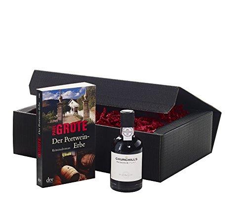 Geschenkset Wein und Buch 'Der Portwein-Erbe'