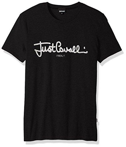Just Cavalli Herren Logo Shirt - Schwarz - Mittel