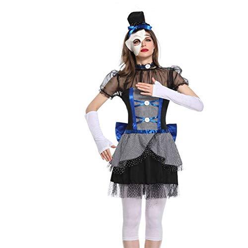 DUQA Zirkus Clown Kost¨¹m Smash Porzellan Puppe Oper Cosplay Kost¨¹m Ghost Brautkost¨¹m Halloween - Weibliche Für Erwachsene Clown Kostüm