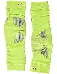 X-Bionic Effektor - Ropa función de ciclismo OW brazo cuello de DX SX No seam, multicolor (green lime/pearl grey), talla L/XL