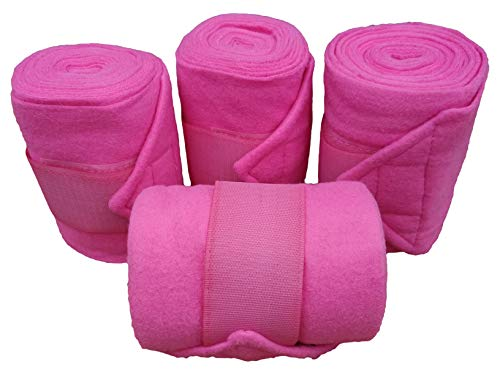 Fleece Bandagen Set rosa