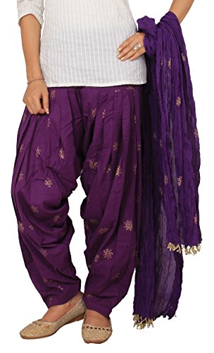 Rama Purple Color Rogan Print Full Patiala with Dupatta Set