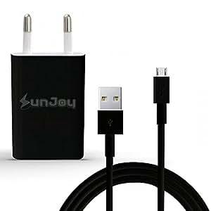 Chargeur Secteur 1A Sony Xperia M C1904 C1905 Micro - USB + Câble - Noir