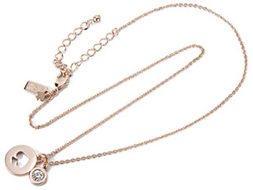 Kate Spade New York Spot The Spade Rose Gold Necklace