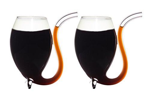 CKB Ltd® Pack of 2 Irish Coffee Liqueur Sipping Glasses 175ml Glas kann auch für Irish Coffee Wein-& Andere Spirituosen verwandt werden 2er SET