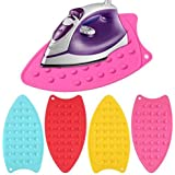 GadgetBite Flexible Silicone Iron Pad Heat Resistant Anti-Slip Mat for Hot Iron (Pink)