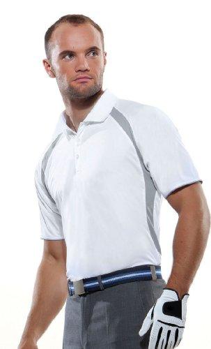 Kustom Kit - Gamegear Cooltex Riviera Polo Shirt White/Grey
