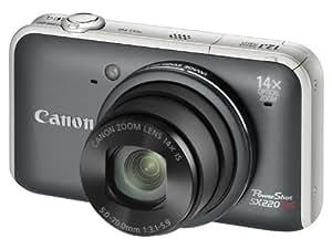 Canon SX220 HS Appareil Photo Numérique Compact 12.1 Mpix zoom 14 x Gris