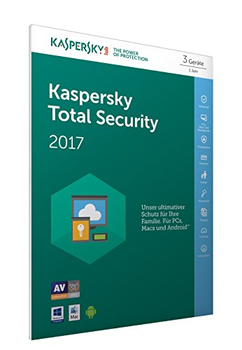 Kaspersky Total Security 2017 | 3 Geräte  | 1 Jahr | PC/Mac/Android | Download