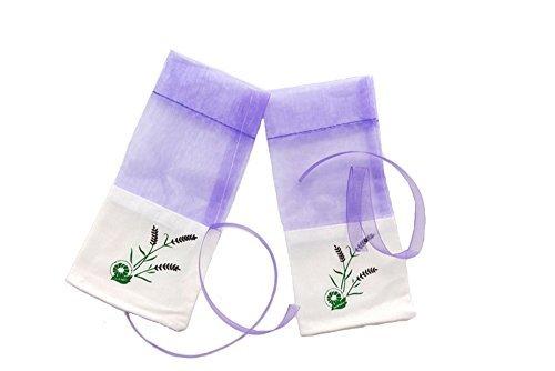 TooGet Organza Taschen Lavendel Luxus Hochzeit Voile Geschenk Tasche Schmuck Geschenk Beutel Taschen für Hochzeit Gefälligkeiten, 7.5cm x 15cm, 12er-Pack