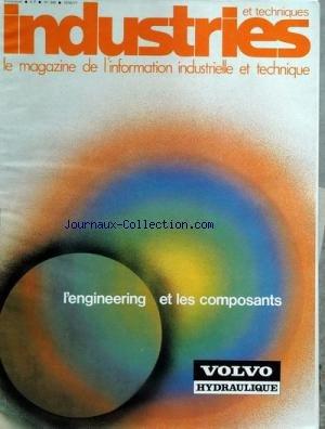 INDUSTRIES ET TECHNIQUES [No 346] du 10/06/1977 - L'ENGINEERING ET LES COMPOSANTS - VOLVO HYDRAULIQUE