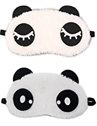 Jenna Eyelashes Dot Panda Sleeping Eye Mask White Free Size (Pack of 2)