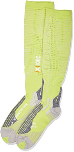 X-Socks Erwachsene Funktionssocken Accumulator Competition Green Lime/Pearl Grey, 35/38 S - Erwachsenen-lime Green