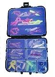 Relax Kopyto Set 28 x Doppelschwanz Twister - 4,5cm 14 Farben + 20 Kopyto Classic 1' 3,5 cm für Forelle u. Barsch Gummifisch Angeln (48 Teile Twisterbox)