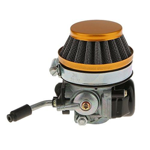 MagiDeal Prestazioni Montaggio Filtro Carburatore Aria Per 37 50 80 CC Motociclo Accessorio Moto - Giallo