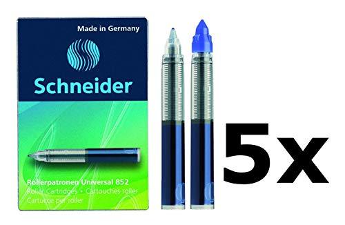 Schneider Rollerpatrone 852, M, königsblau, 5er Schachtel (25 Patronen (Königsblau))