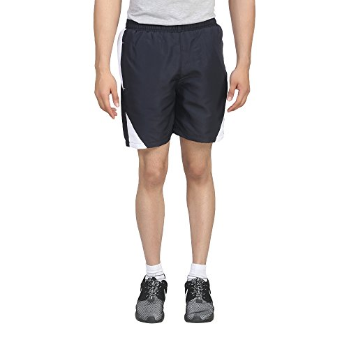 Trendy Trotters Men's Sports Shorts-TTJ1SHORTS_TR_BLACK_WHT_L