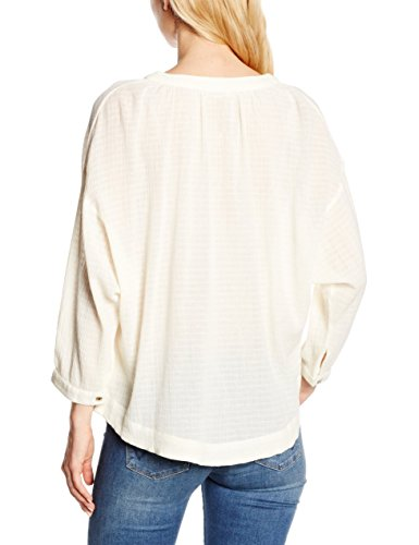 Leon & Harper Club - Chemisier - Taille normale - Manches longues - Femme Blanc (Off White)
