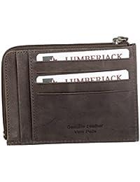 Cartera hombre LUMBERJACK marrón oscuro cuero bolsillo tarjetas de credito A5491