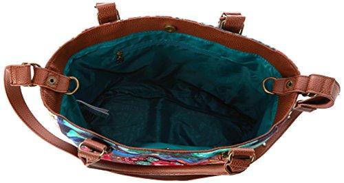 Desigual 51X50J6 Damen Taschen Grün (Verde Nantes 4043)
