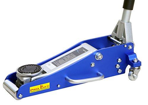Pro-Lift-Montagetechnik 1,5t Rangierwagenheber Alu/Stahl Mix, silber/blau, FJ15ASJ, 02169
