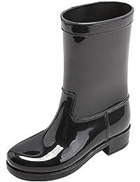 SYYAN Damen Pfützen Wasserdicht Rutschfest Mittlere Oberseite Gummistiefel , black , 37
