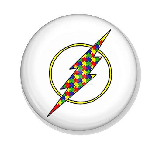 Gifts & Gadgets Co. Autismus Jigsaw Lightening Strike Magnet-Flaschenöffner, rund, 58 mm