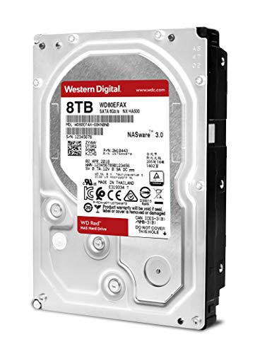 Western Digital Red Festplatte 8000GB Serial ATA III Interne Festplatte - Interne Festplatten (3.5 Zoll, 8000 GB, 5400 RPM, Serial ATA III, 256 MB, Festplatte)