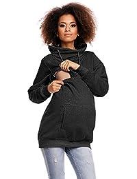 Zeta Ville - Sweat-shirt d'allaitement col cheminée top maternité - femme - 354c