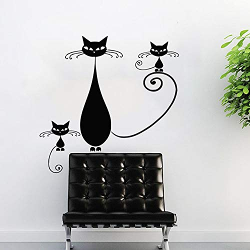 Zmyz sticker da muro vinile adesivo tre animali negozio di animali decorazione baby room cartppn wallpaper stickers 22.4 * 22.4in