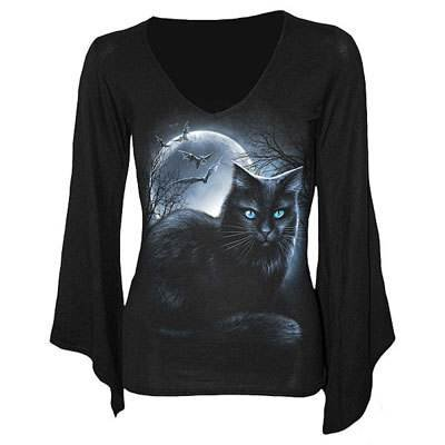 Spiral - Mystical Moonlight (T-Shirt Manica Lunga Donna L)