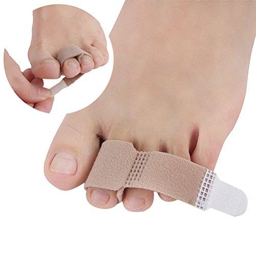 ULTNICE Corrector de dedo del pie Toe Wraps Cushioned Vendas