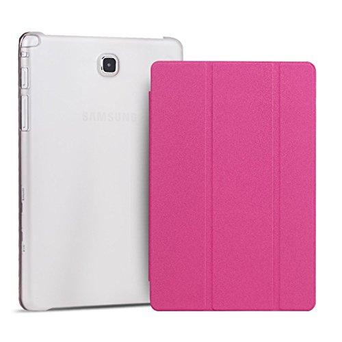 Cover Kompatibel mit Samsung Galaxy Tab 4 7.0 T230, Hülle Tablettasche klappbar Aufstellfunktion Schutz Case Business Tasche für Galaxy Tab 4 7.0 T230 Pink ()