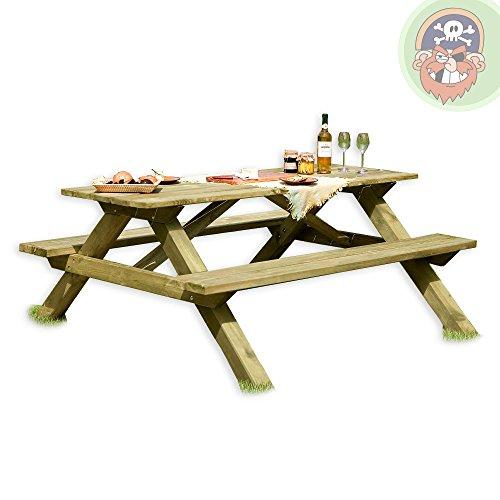 Picknicktisch aus Holz / Biergartengarnitur Tegernsee von Gartenpirat®