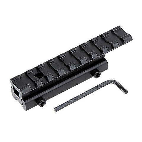 pedgeo (TM) alliage de zinc queue d'aronde 11mm Rail Weaver Picatinny 20mm avec adaptateur clé pour les fonctions Lasers Lampes Accessoires