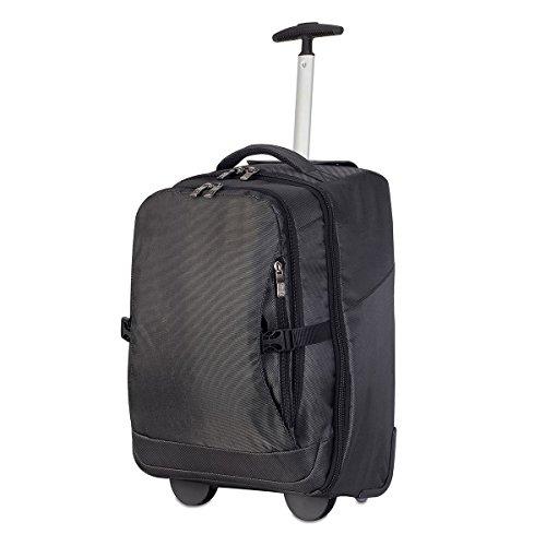 Shugon 1424–10Roma Notebook Trolley Rucksack Tasche, Schwarz