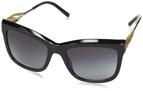 Burberry Unisex BE4207 Sonnenbrille, Schwarz (Black 30018G), One size (Herstellergröße: 56)
