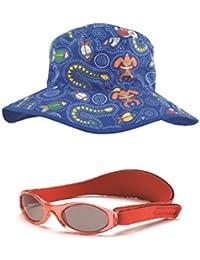 Coffret cadeau de bébé rouge BabyBanz et Dreamtime Bonnet Bleu 0–2ans