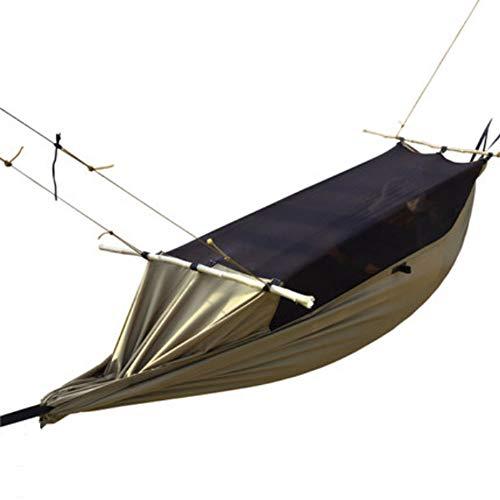 LZC Tragbare Hängematte, Faltbare leichte wasserdichte Doppelreißverschluss Camping Hängematte für Outdoor Wandern, Wandern, Abenteuer und Sport