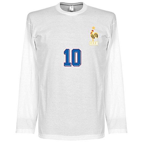 Zidane 1998 Away L/S T-Shirt - weiß - M (Shirt Away L/s)