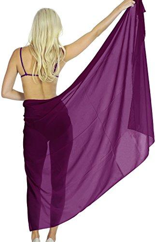 Sarong Bekleidung Pareos (5 Modelle Sarong Badeanzug Schließe Strandkleidung Tuch Wickeltuch Pareo Wickelrock Strandtuch Handtuch Violett)