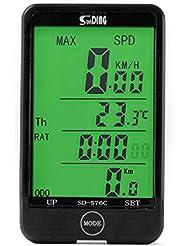 XCSOURCE® SUNDING Computadora de Ciclo con Cable Digital LCD Backlight Odómetro Velocímetro para Bicicleta Ciclismo MTB CS247