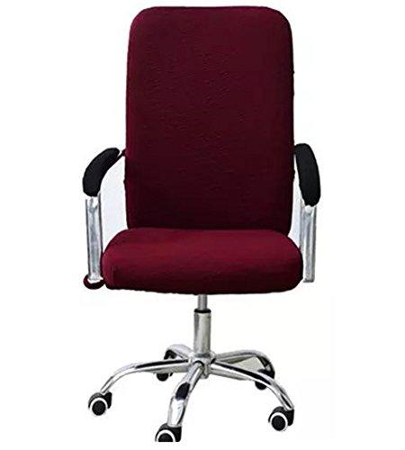 Zerci giratoria Ordenador Silla Asiento Oficina de elástico Spandex sillón Pantalla de decoración, algodón poliéster