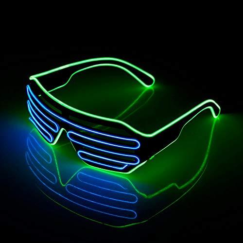 2 pairs Standard Leuchtende LED Gläser EL Draht -