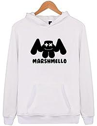 SIMYJOY Pareja DJ Marshmello Fans Sudaderas con capucha Sonido eléctrico Pull-over Cool EDM Sudadera para Hombre Mujer Adolescente