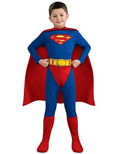 Superman-Kostüm für Jungen 104/116 (4-6 Jahre) (Superman Clark Kent Kostüme)