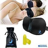 schlafmaske herren 3d schlafbrille damen bequem augenklappe zum schlafen komplette Dunkelheit Inklusive Ohrstöpsel & Aufbewahrungsbeutel