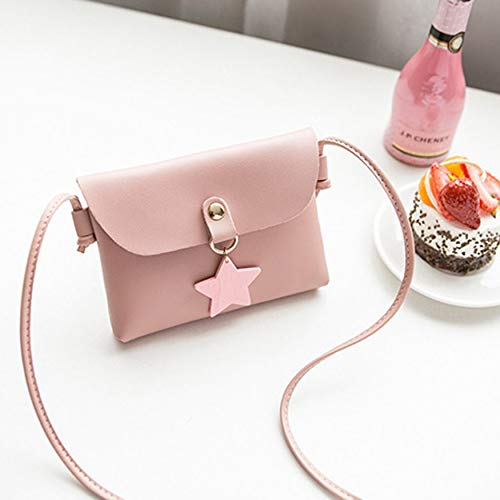 Yaoaomon Frauen Kunstleder Mini Bag Satchel Fashinable Mini Größe Mini Bag Purse pink - Flap-kleine Satchel