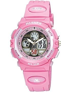 Children's watch doppel-color wasserdicht luminous multi-funktion elektronik-B